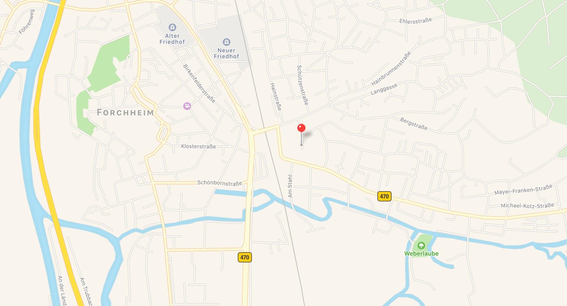 Anfahrt zu DTM Digital GbR in Forchheim